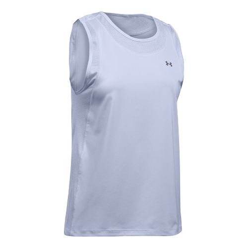 Womens Under Armour Sport Muscle Sleeveless & Tank Tops Technical Tops - Lavender Ice L