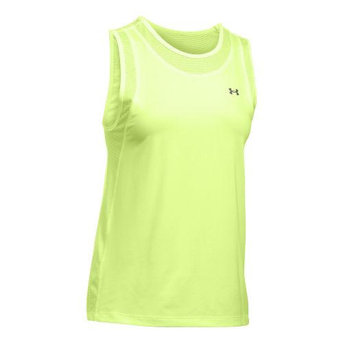 Womens Under Armour Sport Muscle Sleeveless & Tank Tops Technical Tops - Pale Moonlight S