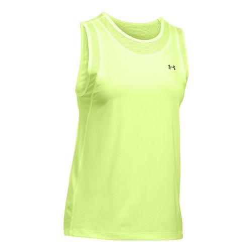 Womens Under Armour Sport Muscle Sleeveless & Tank Tops Technical Tops - Pale Moonlight XL ...