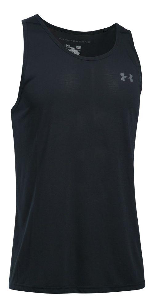 Mens Under Armour Threadborne Sleeveless & Tank Tops Technical Tops - Black/Graphite XXL