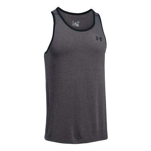 Mens Under Armour Threadborne Sleeveless & Tank Tops Technical Tops - Carbon Heather/Black 3XL