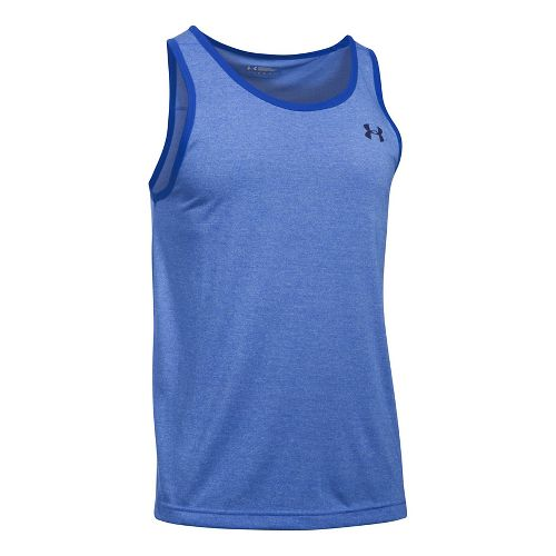 Mens Under Armour Threadborne Sleeveless & Tank Tops Technical Tops - Water/Black 3XL