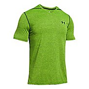 Mens Under Armour Threadborne V-Neck Novelty Short Sleeve Technical Tops