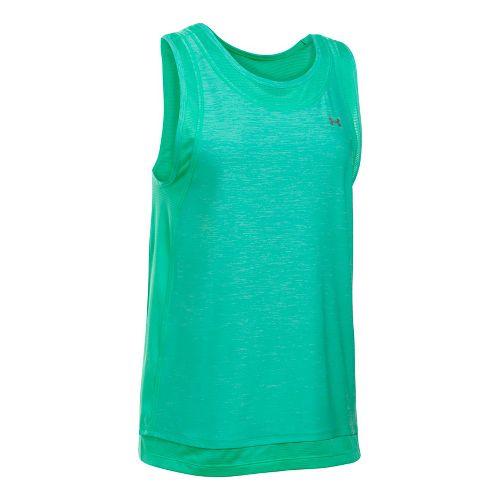 Womens Under Armour Sport Muscle- Twist Sleeveless & Tank Tops Technical Tops - Absinthe Green ...