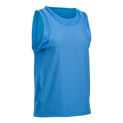 Womens Under Armour Sport Muscle- Twist Sleeveless & Tank Tops Technical Tops - Mediterranean L ...