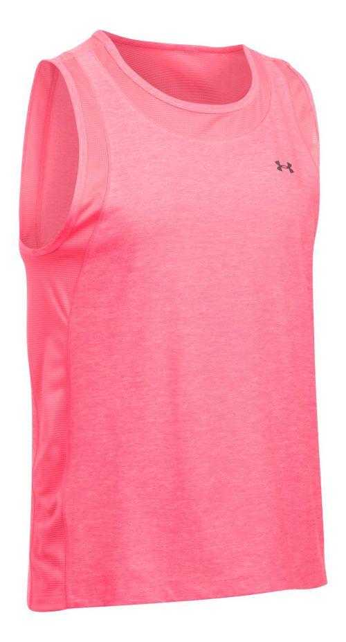 Womens Under Armour Sport Muscle- Twist Sleeveless & Tank Tops Technical Tops - Pink Shock XL