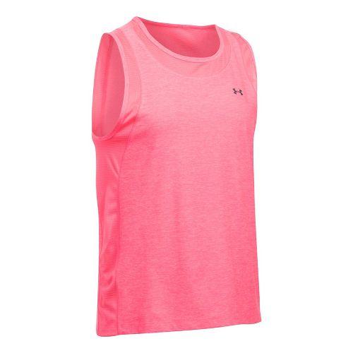 Womens Under Armour Sport Muscle- Twist Sleeveless & Tank Tops Technical Tops - Pink Shock ...