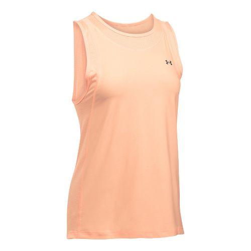 Womens Under Armour Sport Muscle- Twist Sleeveless & Tank Tops Technical Tops - Playful Peach XL