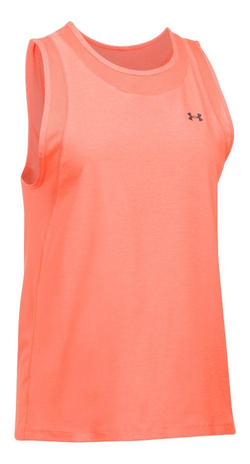 Womens Under Armour Sport Muscle- Twist Sleeveless & Tank Tops Technical Tops - London Orange XL