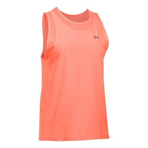 Womens Under Armour Sport Muscle- Twist Sleeveless & Tank Tops Technical Tops - London Orange XL