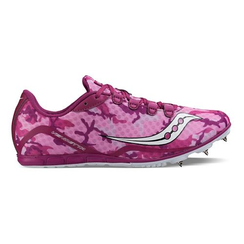 Womens Saucony Vendetta Racing Shoe - Pink/Purple 8.5
