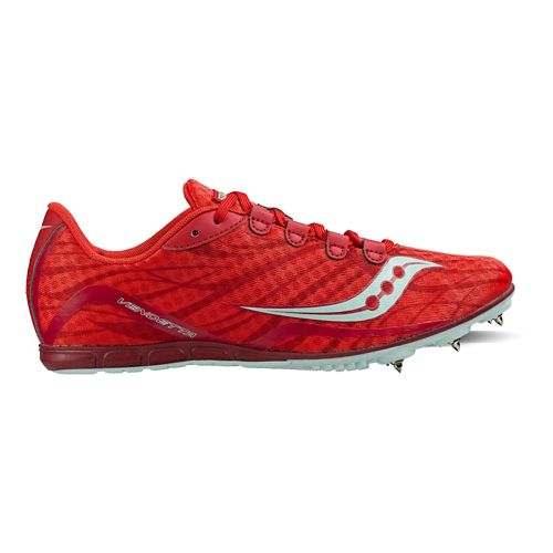 Womens Saucony Vendetta Racing Shoe - Red/Blue 10