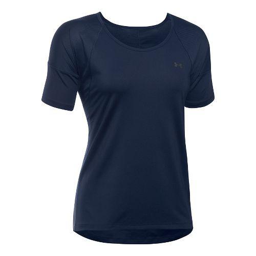 Womens Under Armour Sport Short Sleeve Technical Tops - Midnight Navy XL