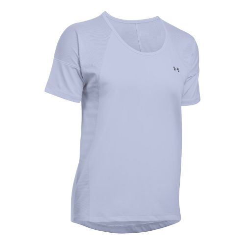 Womens Under Armour Sport Short Sleeve Technical Tops - Lavender Ice L