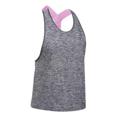 Womens Under Armour Sport Swing Sleeveless & Tank Tops Technical Tops - Black/Heather S
