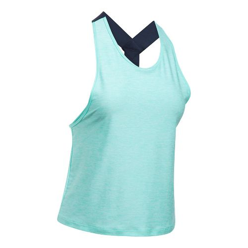 Womens Under Armour Sport Swing Sleeveless & Tank Tops Technical Tops - Blue Infinity L