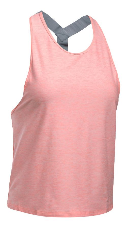 Womens Under Armour Sport Swing Sleeveless & Tank Tops Technical Tops - Coral/Steel XL