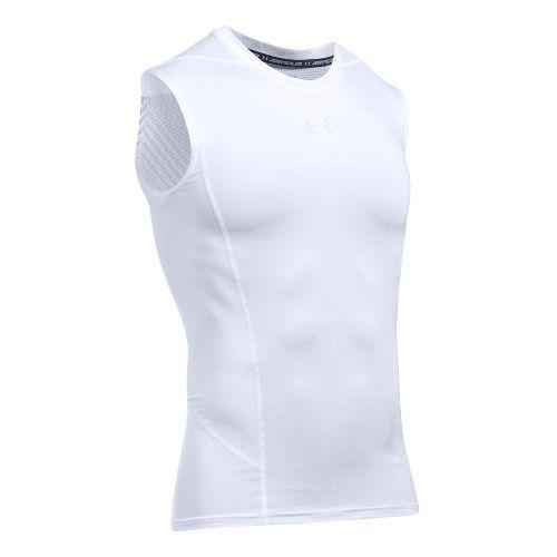 Mens Under Armour HeatGear Supervent 2.0 Sleeveless & Tank Tops Technical Tops - White XXL