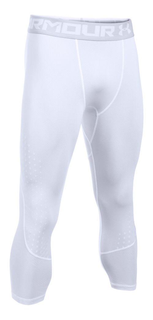 Mens Under Armour HeatGear Armour Coolswitch 3/4 Tights & Leggings Pants - White S