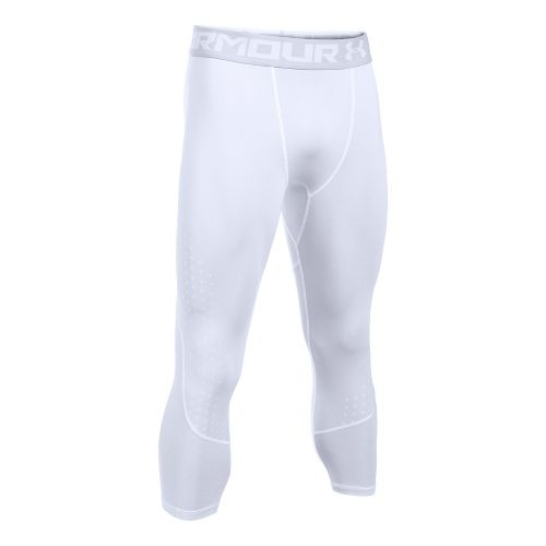 Mens Under Armour HeatGear Armour Coolswitch 3/4 Tights & Leggings Pants - White L