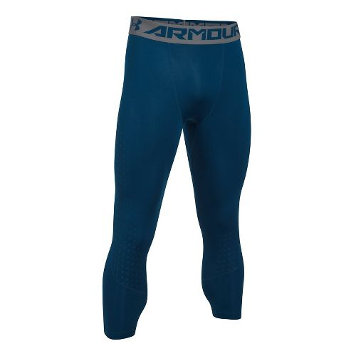 Mens Under Armour HeatGear Armour Coolswitch 3/4 Tights & Leggings Pants - Blackout Navy L