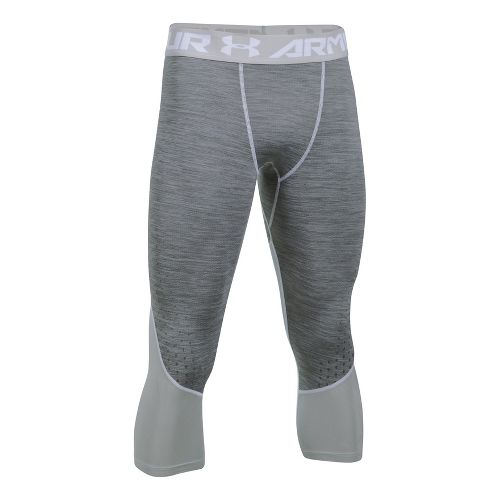 Mens Under Armour HeatGear Coolswtich Twist 3/4 Tights & Leggings Pants - White M