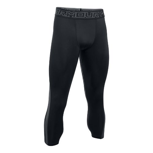 Mens Under Armour HeatGear Supervent 2.0 3/4 Tights & Leggings Pants - Black/Stealth Grey S ...