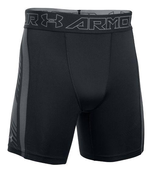 Mens Under Armour HeatGear Supervent 2.0 Compression & Fitted Shorts - Black/Graphite L