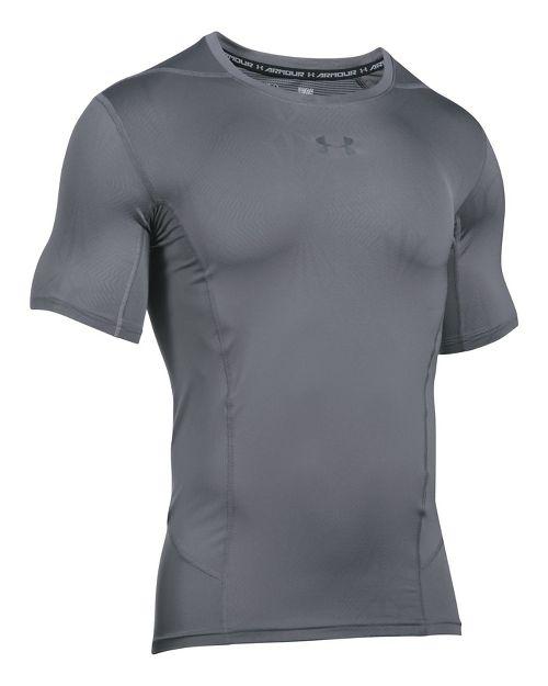 Mens Under Armour HeatGear Supervent 2.0 Short Sleeve Technical Tops - Graphite/Black XL