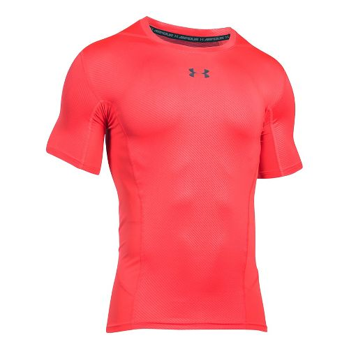 Mens Under Armour HeatGear Supervent 2.0 Short Sleeve Technical Tops - Red/Anthracite XXL