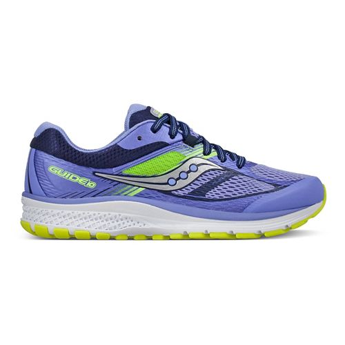 Kids Saucony Guide 10 Running Shoe - Purple/Blue 2Y