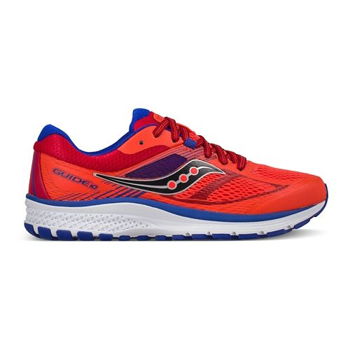 Kids Saucony Guide 10 Running Shoe - Red 3.5Y