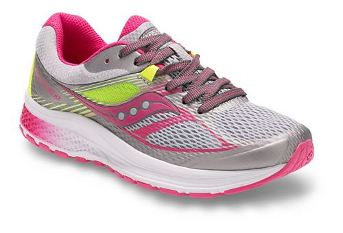 Kids Saucony Guide 10 Running Shoe - Grey/Pink 4.5Y