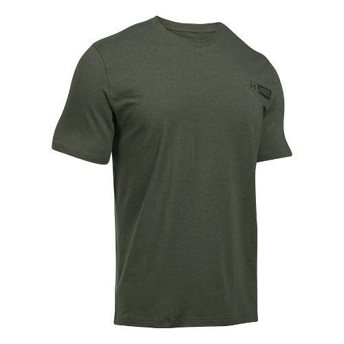 Mens Under Armour Left Chest Bar Lockup Short Sleeve Technical Tops - Downtown Green XXL ...