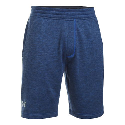 Mens Under Armour Tech Terry Unlined Shorts - Blue Marker/Black XXL