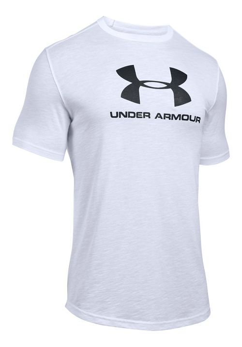 Mens Under Armour Sportstyle Branded Tee Short Sleeve Technical Tops - White M