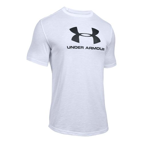 Mens Under Armour Sportstyle Branded Tee Short Sleeve Technical Tops - White XXL