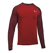 Mens Under Armour Tech Terry Crew Long Sleeve Technical Tops