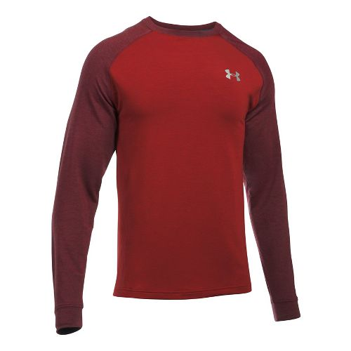 Mens Under Armour Tech Terry Crew Long Sleeve Technical Tops - Red L