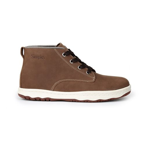 Mens Simple Barney-91L Casual Shoe - Dark Tan 11