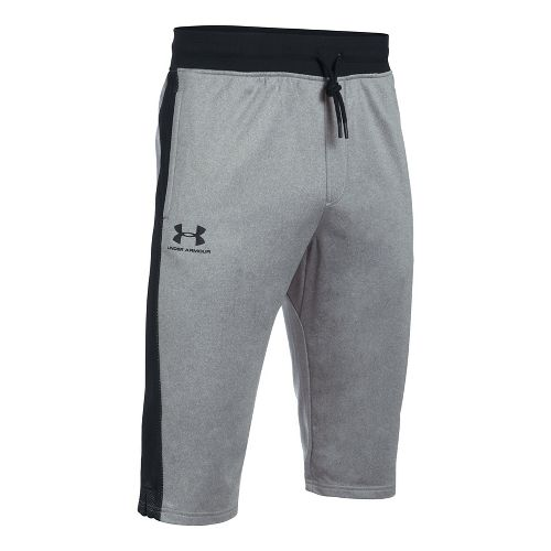 Mens Under Armour Sportstyle Half Crop Pants - Greyhound Heather XL