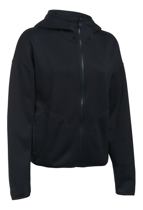 Womens Under Armour Double Threat Swacket Cold Weather Jackets - Black L