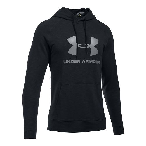 Mens Under Armour Sportstyle Triblend P/O Half-Zips & Hoodies Technical Tops - Black L