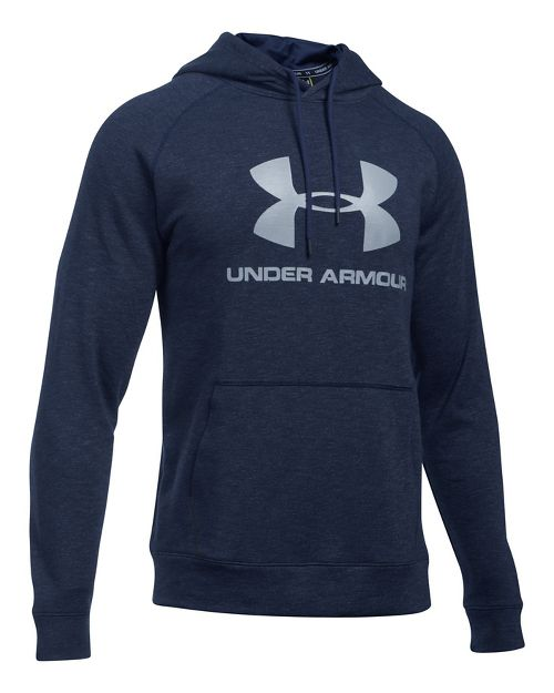 Mens Under Armour Sportstyle Triblend P/O Half-Zips & Hoodies Technical Tops - Black XL