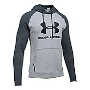 Mens Under Armour Sportstyle Triblend P/O Half-Zips & Hoodies Technical Tops