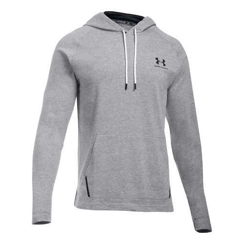 Mens Under Armour Sportstyle Jersey Half-Zips & Hoodies Technical Tops - Greyhound Heather M