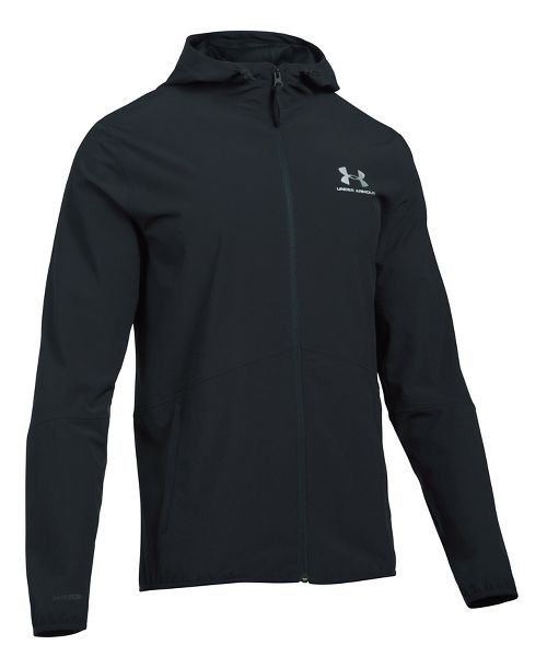 Mens Under Armour Sportstyle Wave Running Jackets - Black XL