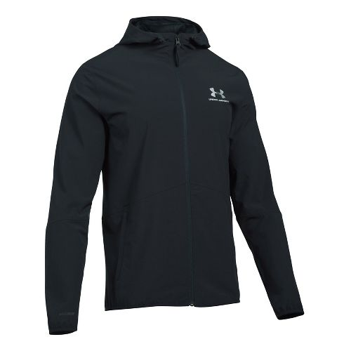Mens Under Armour Sportstyle Wave Running Jackets - Black L