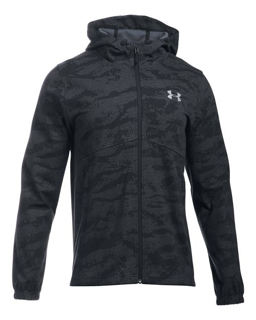 Mens Under Armour Spring Swacket Novelty Running Jackets - Black L