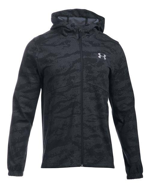 Mens Under Armour Spring Swacket Novelty Running Jackets - Black XXL